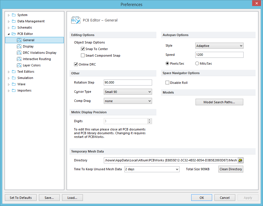 PCB Editor - General | Online Documentation for Altium Products