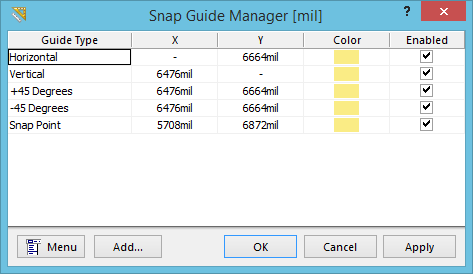 Snap Guide Manager | Online Documentation for Altium Products