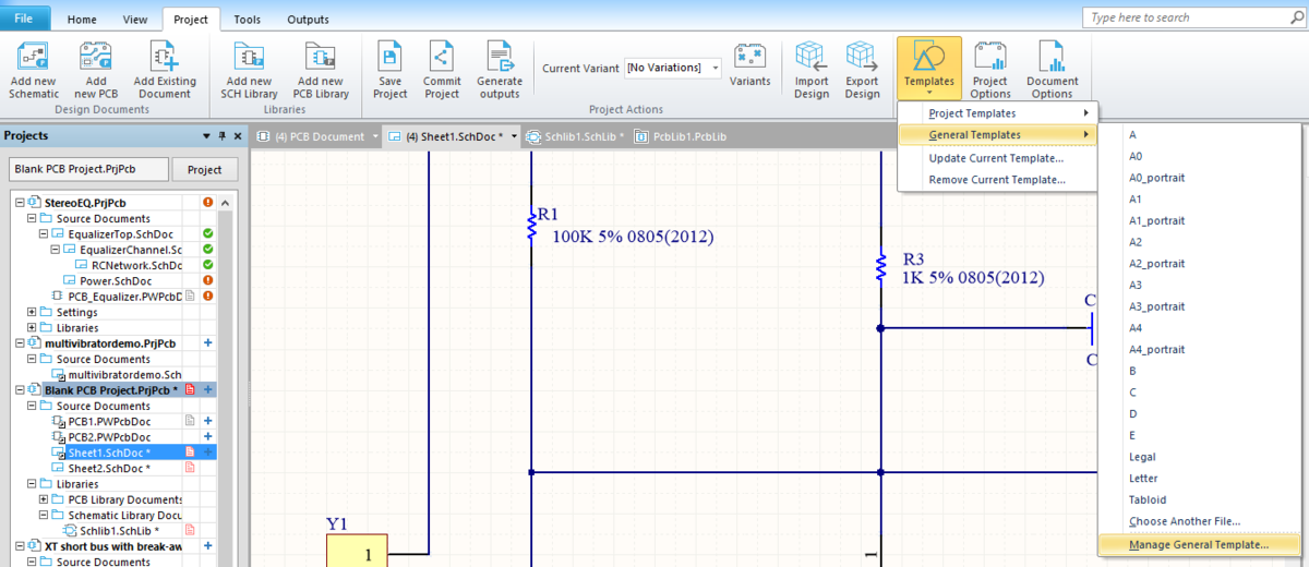 Working with Templates   Online Documentation for Altium Products