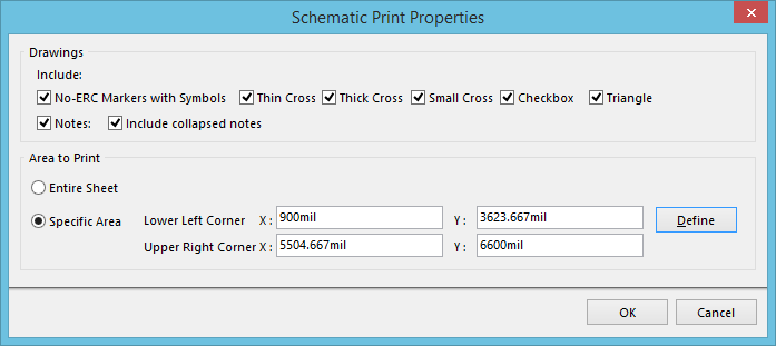 Schematic Print Properties | Online Documentation for Altium Products